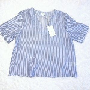 NWT {a new day} Blue Stripe Blouse